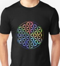 Flower of Life - Multi-Colour Unisex T-Shirt