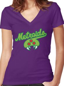 THE METROIDS Women's Fitted V-Neck T-Shirt