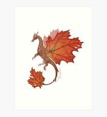 Maple Leaf Dragon Art Print