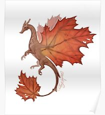Maple Leaf Dragon Poster