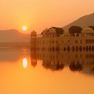 Sunrise above Jal Mahal by Brian Bo Mei