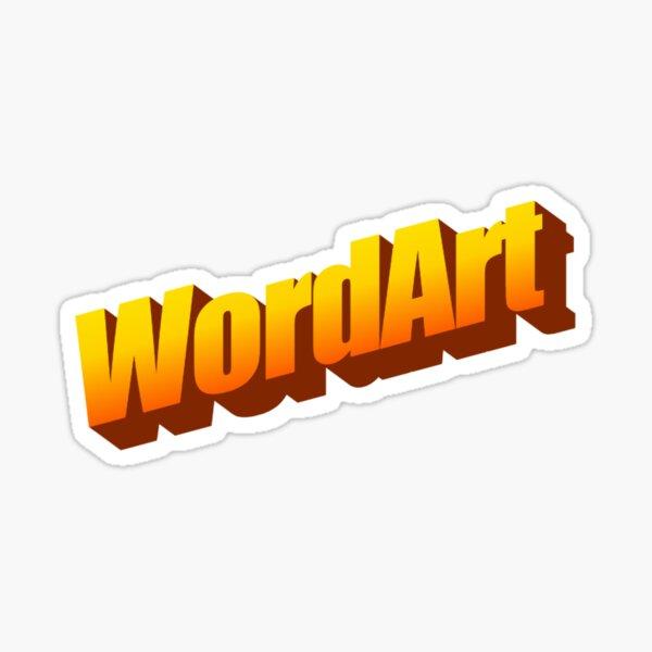 WordArt Word Sticker