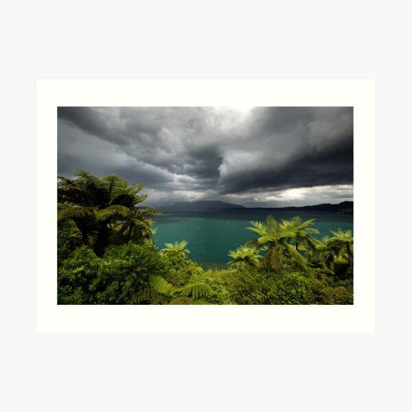 Massive storm about to hit Rotorua Art Print