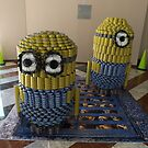Canstruction, Sculpture Made of Food Cans, Minions, World Financial Center, New York City by lenspiro