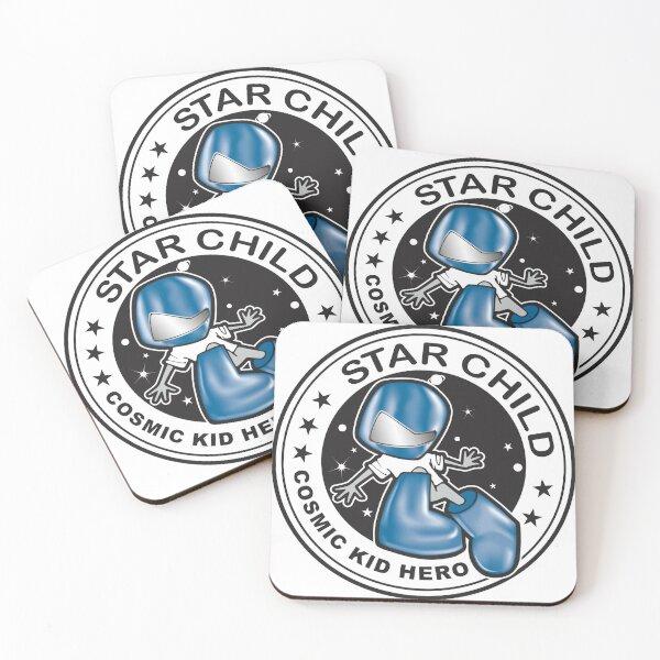 Star Child - Cosmic Kid Hero Coasters (Set of 4)