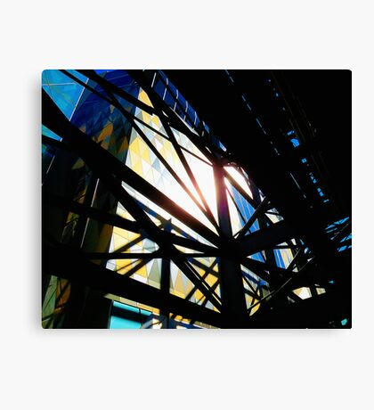 Delicious lines of an emerging city Canvas Print