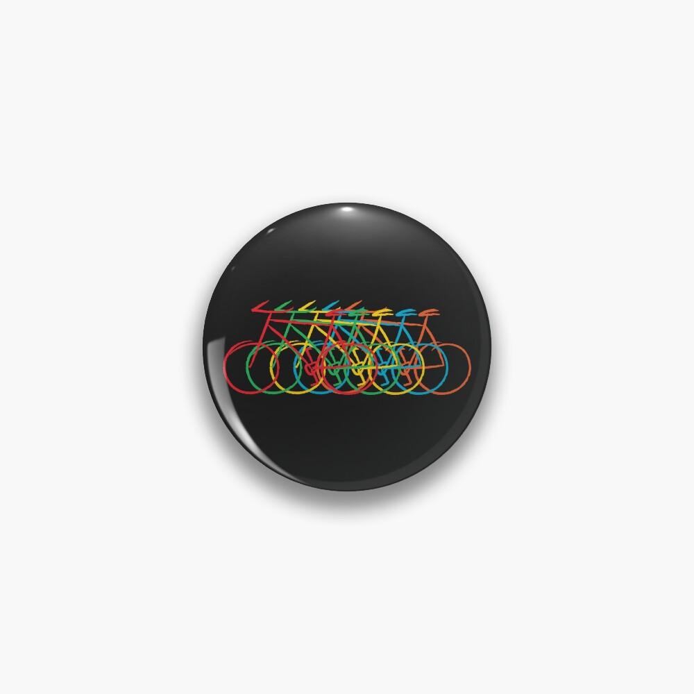 Just Bike, colorful Pin
