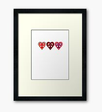 Traditional love hearts Framed Print
