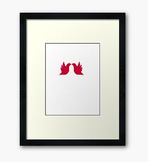 Love doves Red 2 Framed Print
