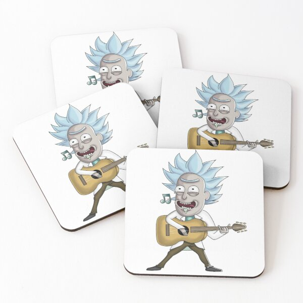 Rick singing with guitar Coasters (Set of 4)