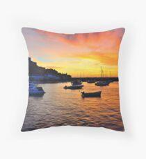 Gorey Harbour Sunrise Throw Pillow