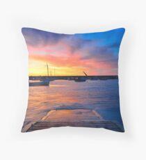 Gorey Harbour II Throw Pillow
