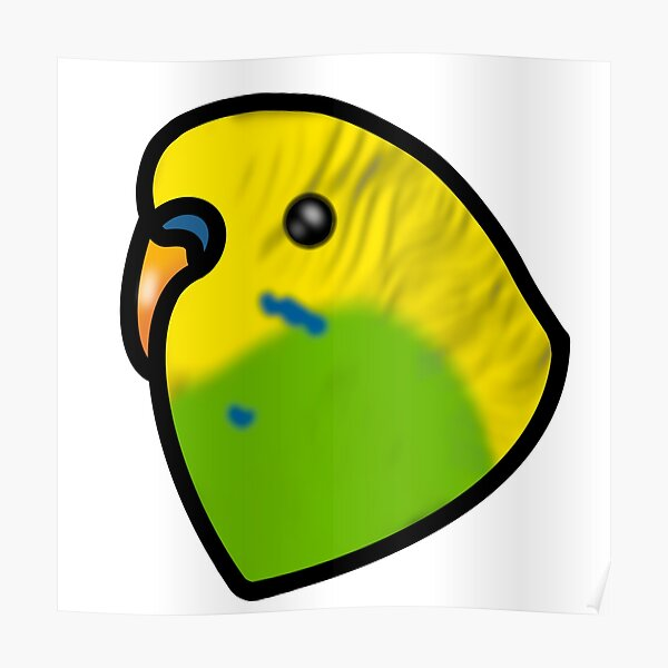 Yellow and Green Budgie Parakeet Poster
