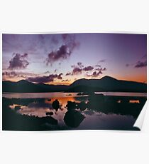 Twilight over Rannoch Moor and the Black Mount, Scotland Poster