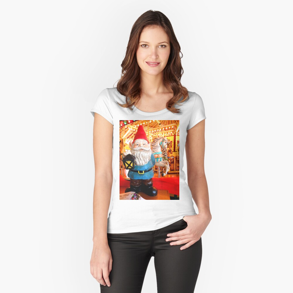 Carousel Gnome Women's Fitted Scoop T-Shirt Front