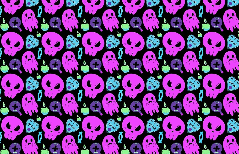 Ghost n Skull Pattern by cquirkart