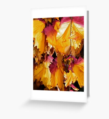 Christmassy Leaves Greeting Card