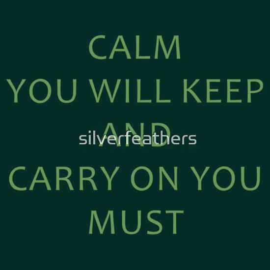 TShirtGifter presents: Calm You Will Keep | Unisex T-Shirt