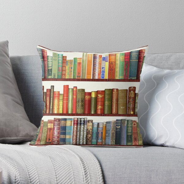 Jane Austen Antique Books Throw Pillow
