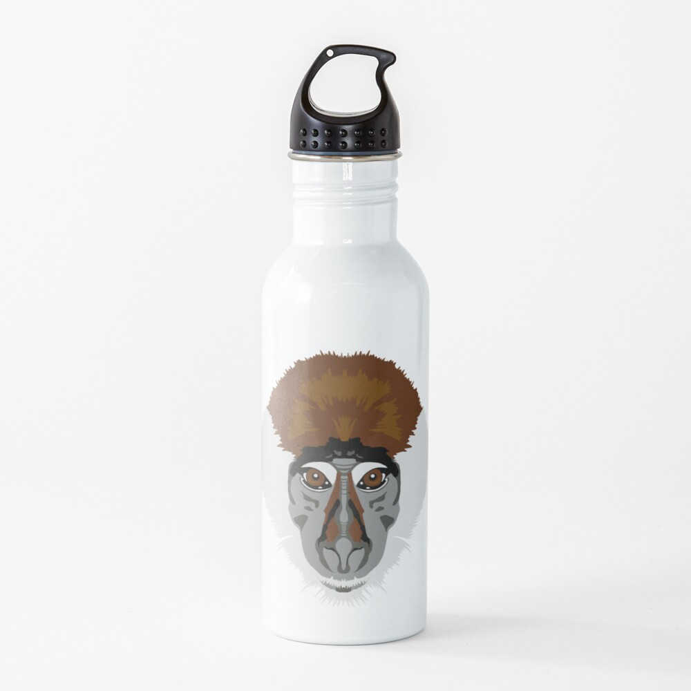 Red-capped Mangabey Face  Water Bottle