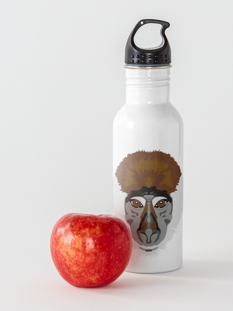 Alternate view of Red-capped Mangabey Face  Water Bottle