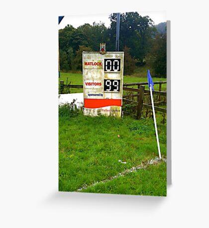 Scoreboard, Matlock Rugby Club, Cromford Meadows Greeting Card