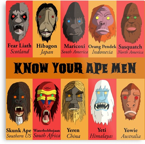 Know Your Ape Men by Mattfields