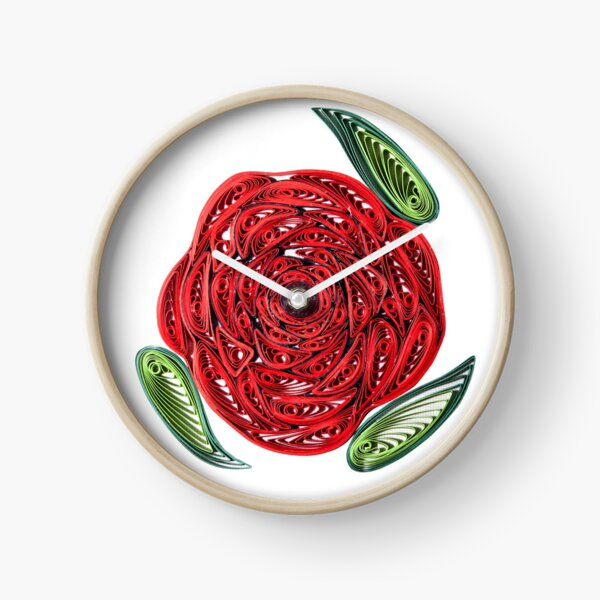 Red Rose  Clock