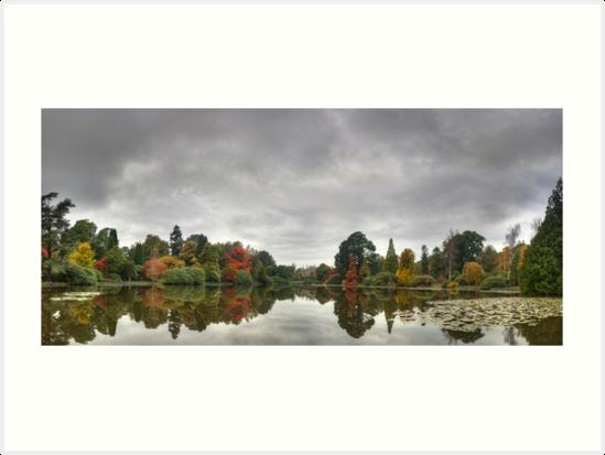 Sheffield Park Pano - Early Autumn by Bob Culshaw