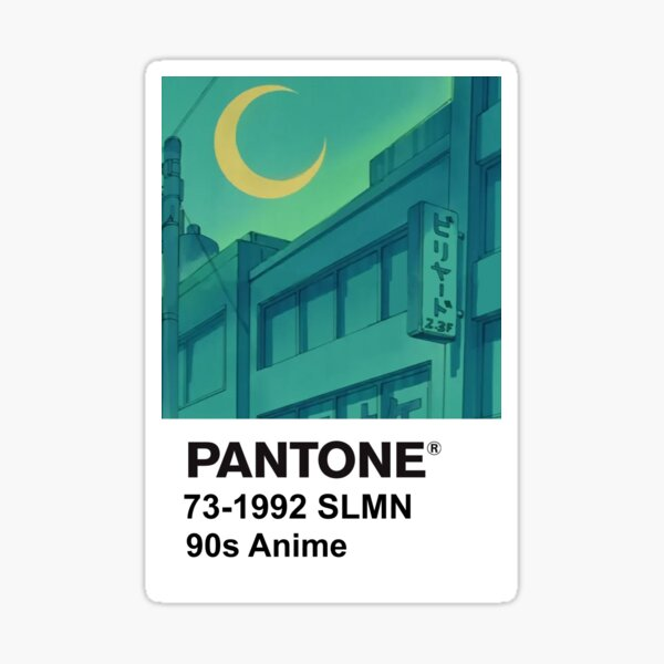 PANTONE 90s Anime (2) Sticker