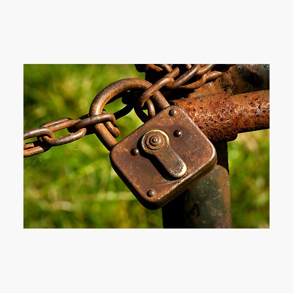 Locked ~ Unlock me!  Photographic Print