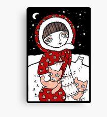 Lumi Kissat Canvas Print