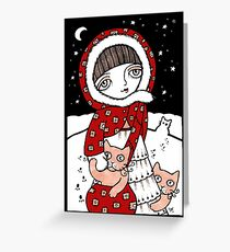 Lumi Kissat Greeting Card