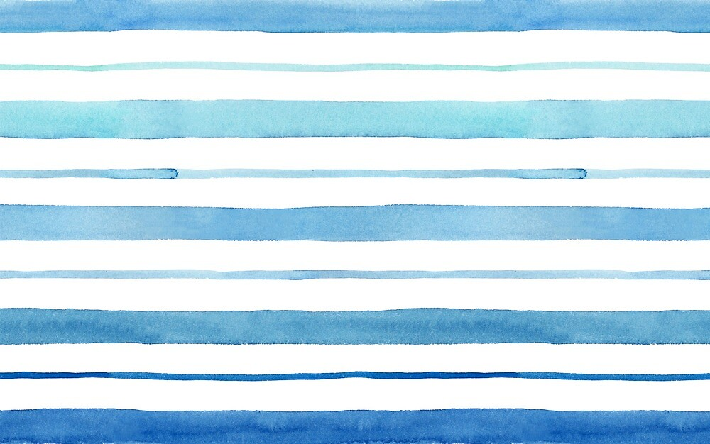 Blue Watercolor Print by sweetsarenity