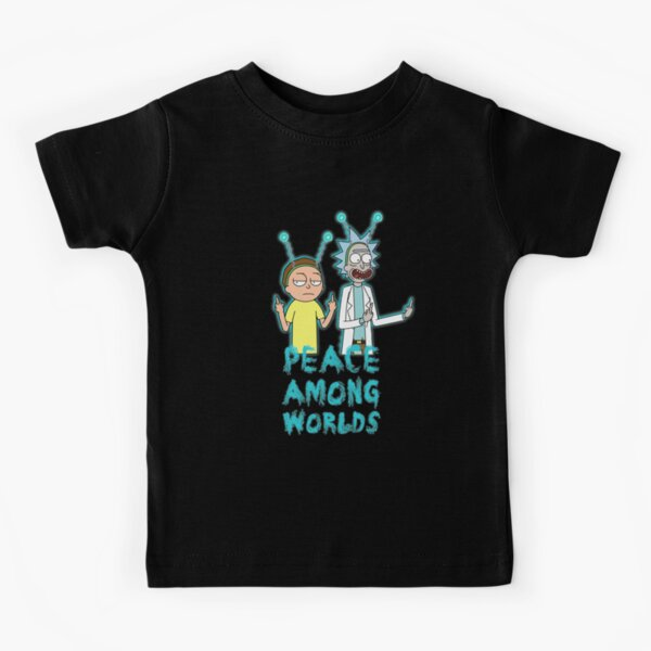 Rick and Morty Peace Among Worlds Kids T-Shirt