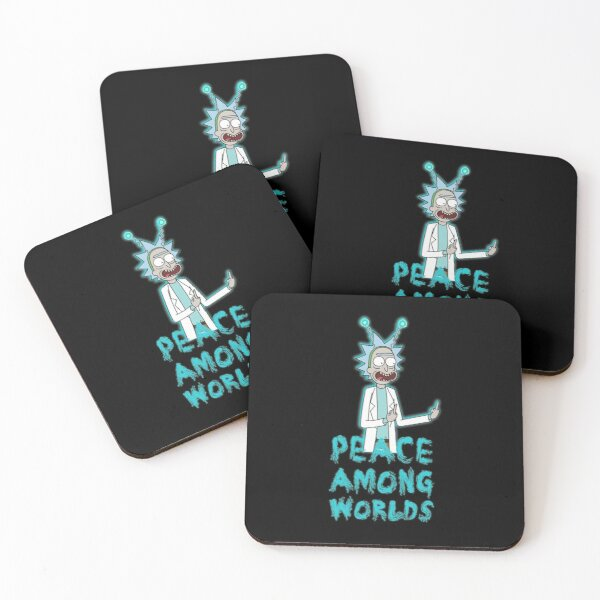 Rick and Morty Peace Among Worlds Coasters (Set of 4)
