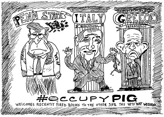 Occupy PIG editorial cartoon by bubbleicious