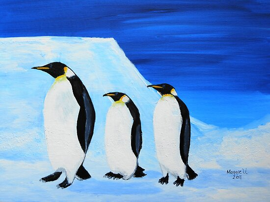Penguins on ice by maggie326