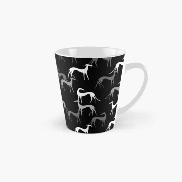 Sighthounds in black Tall Mug
