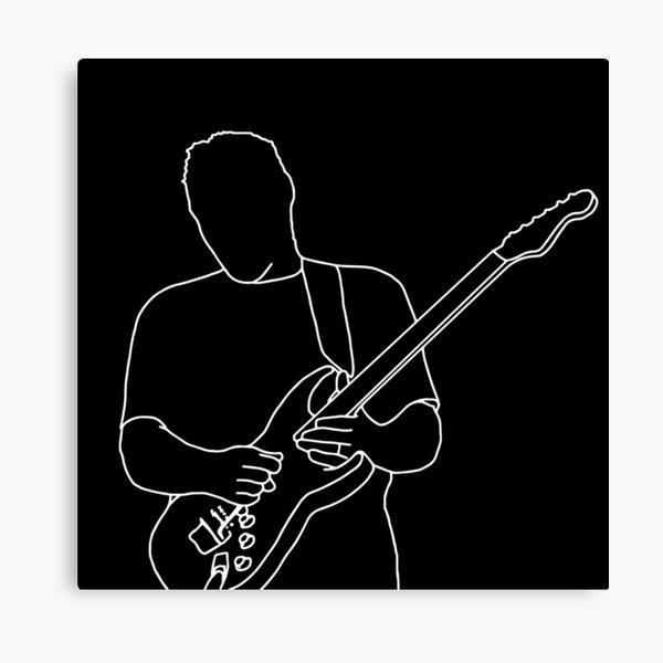 David Gilmour Minimalistic Design Canvas Print