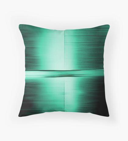 Shimmering Green Throw Pillow