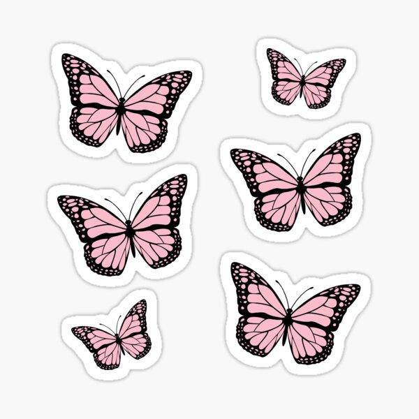 Monarch Butterfly Pink Pack Sticker