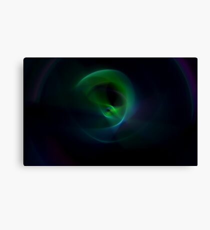 Green Flame Canvas Print