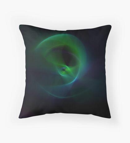 Green Flame Throw Pillow