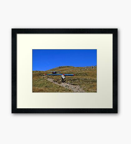 Climbing to Take-Off Framed Print