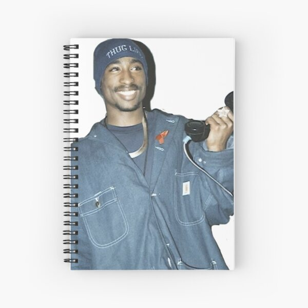 Tupac simple photo  Spiral Notebook