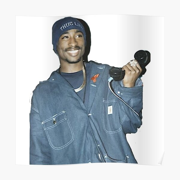 Tupac simple photo Poster