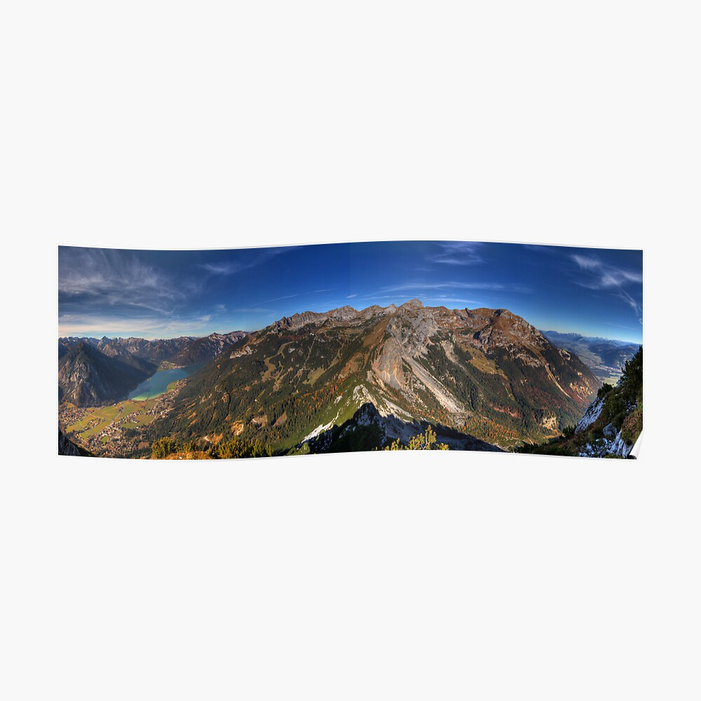 Mountains and a Lake Poster
