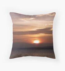 Inch Island November Sunset 3 Throw Pillow