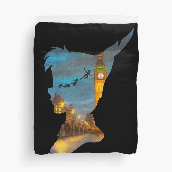 Peter Pan Over London  Duvet Cover